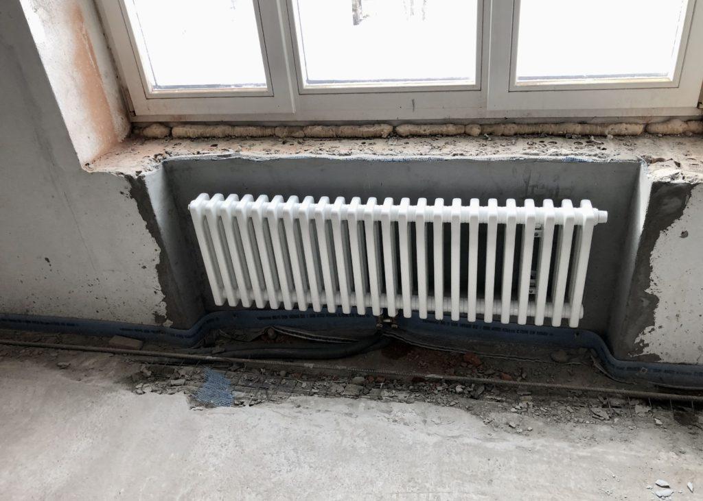 Монтаж трубчатого радиатора