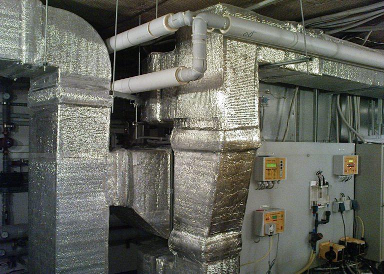 Воздуховоды системы вентиляции в коттедже
