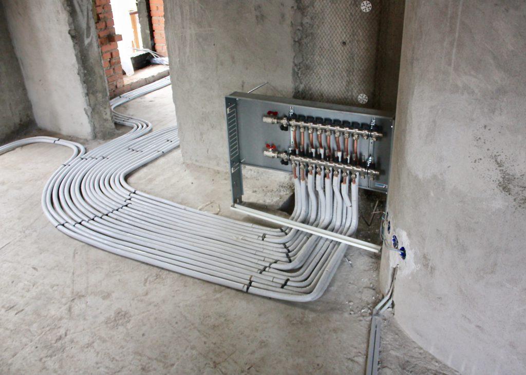 Разводка медных труб в заводской теплоизоляции
