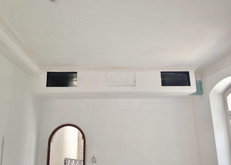 Воздуховоды системы кондиционирования в спальне